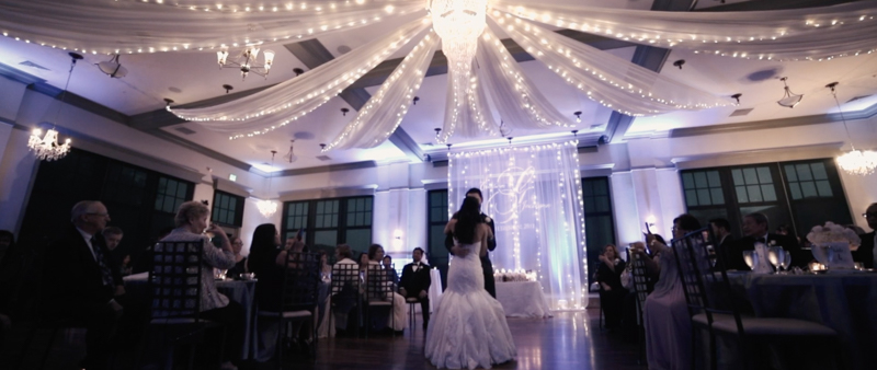 noahs event center wedding film