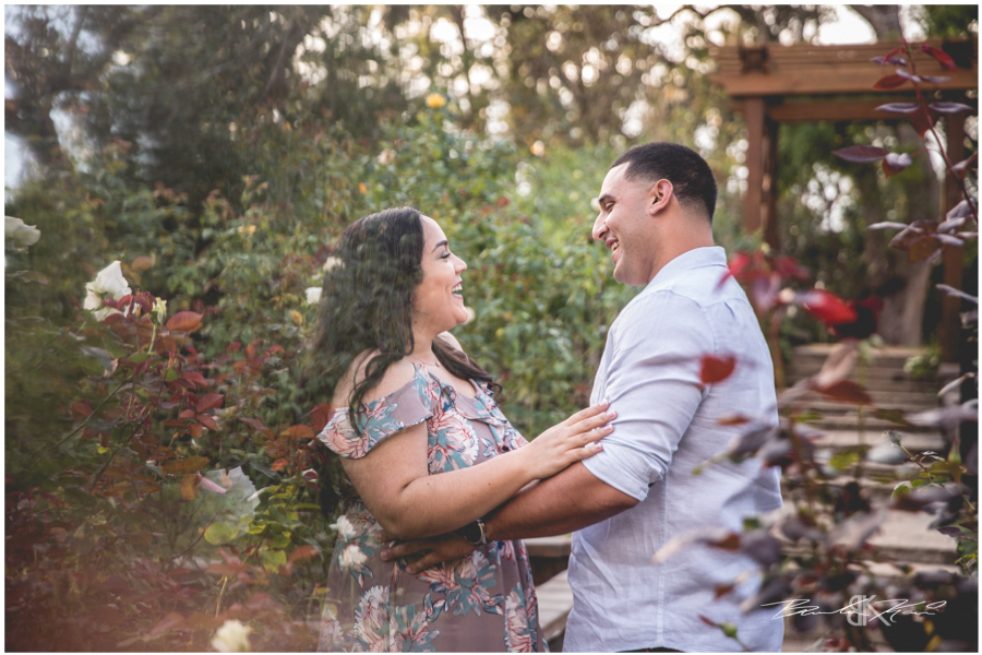 Washington Oaks Gardens State Park engagement photography
