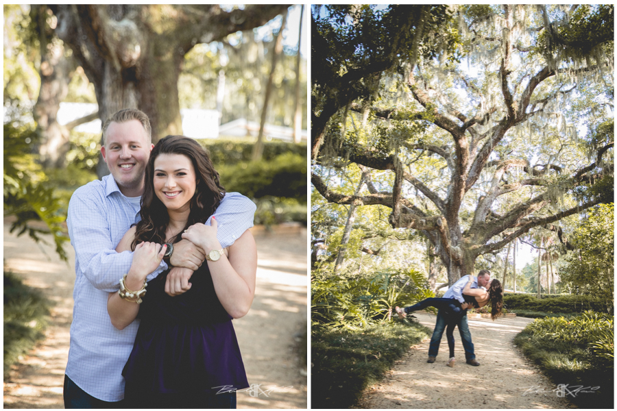 washington oaks gardens engagement